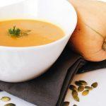 Koolhydraatarm recept voor soep met flespompoen