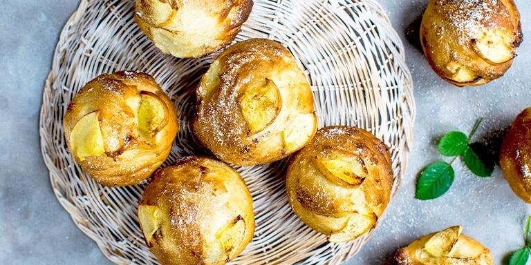 lijnzaad muffins met appel