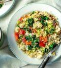 Quinoa met spinazie en ei