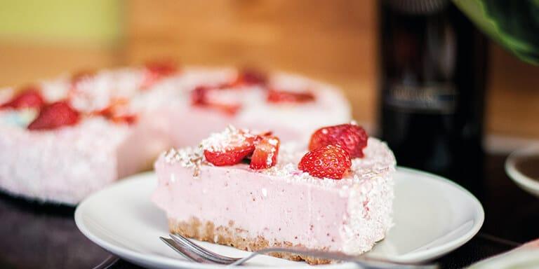 aardbeien kwarktaart