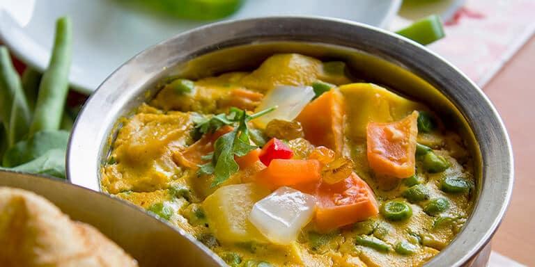 curry met vis