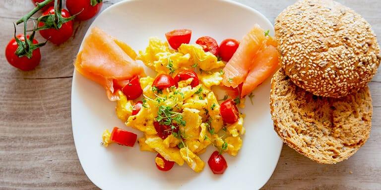 omelet met zalm