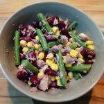 een maaltijdsalade met tonijn en sperziebonen is dat tonijnsalade of mexicaanse bonensalade (1)