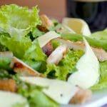 salade met kip en groene appel