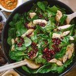 granaatappel salade met kip