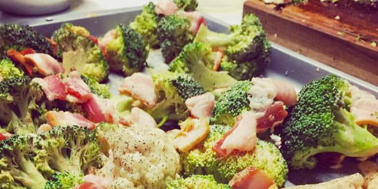 broccoli met spek uit de oven