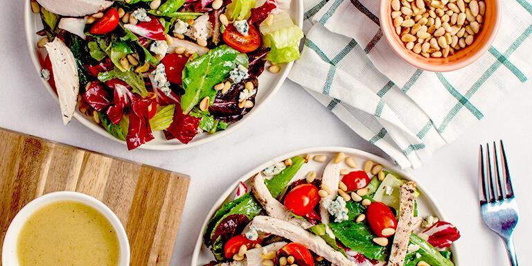 simpele salade met gerookte kip