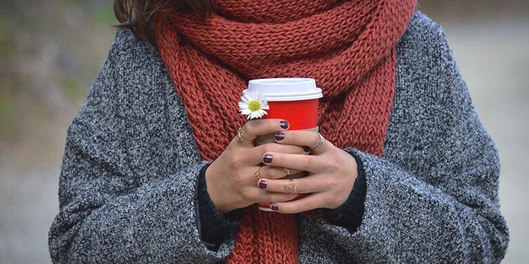 verbrand vet met koffie
