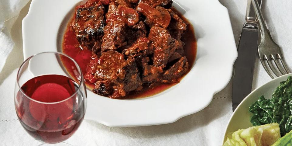 Stoofvlees met rode wijn
