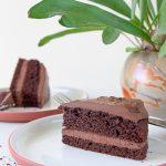 Keto cake van chocolade met amandelmeel en ganache